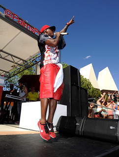 Neyo performing at Ditch Fridays pool party