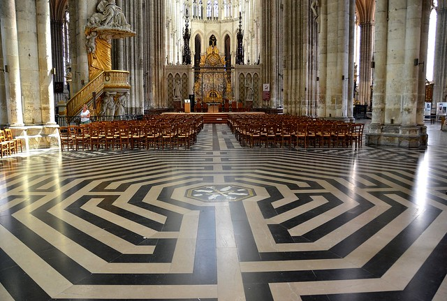 Amiens (Somme) - Cathédrale Notre-Dame - Le labyrinthe