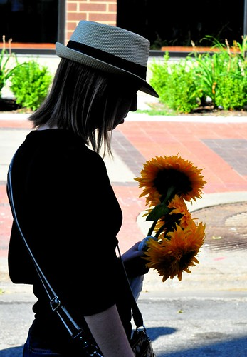 229: Shadow Girl and Sunflowers