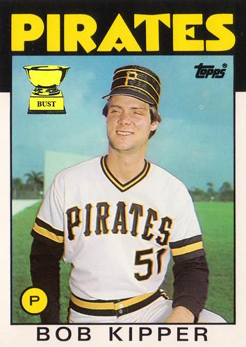 Baseball Card Bust Bob Kipper 1986 Topps