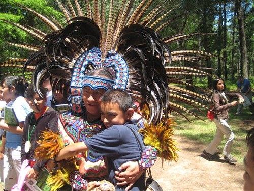 "A young boy, who earlier seemed disinterested, suddenly lit up during the Chikawa Aztec Cultural Troupe's participation in the Exploring Houston's Backyard program. Shortly after the dance performance, the young boy up to one of the performers, grabbed him and said, ""This is my culture!"""