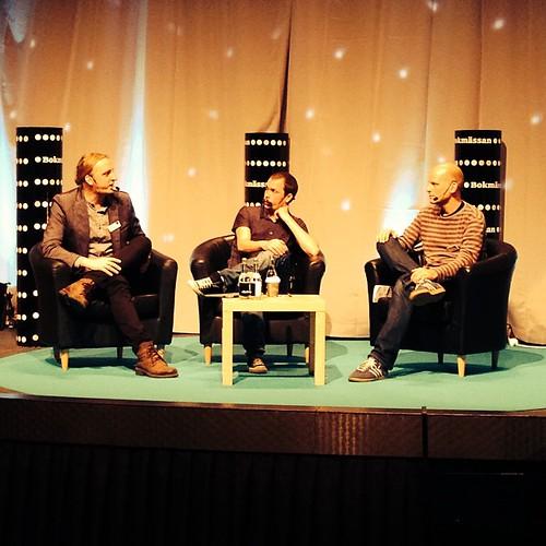 Martin Schibbye och Johan Persson pratar med Filters Mattias Göransson #bokmassan