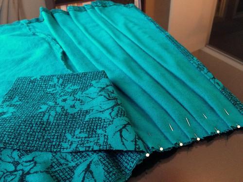 Emerald Wrap Skirt Refashion