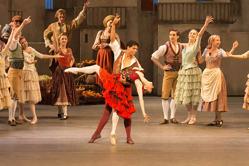 Carlos Acosta as Basilio and Marianela Nuñez as Kitri in Don Quixote © ROH / Johan Persson 2013
