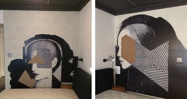 ACE hotel murals work in progress