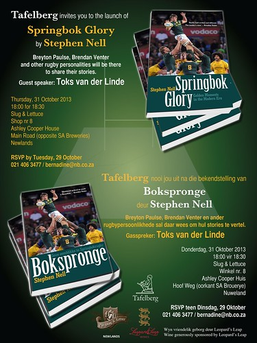 Invite: Launch of Springbok Glory