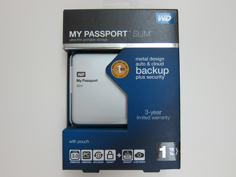 Western Digital My Passport Slim (1TB) - Box Front