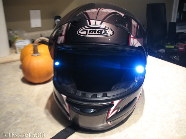 Led Lights For Motorcycle >> Custom Motorcycle Helmet LED Mod | Flickr - Photo Sharing!