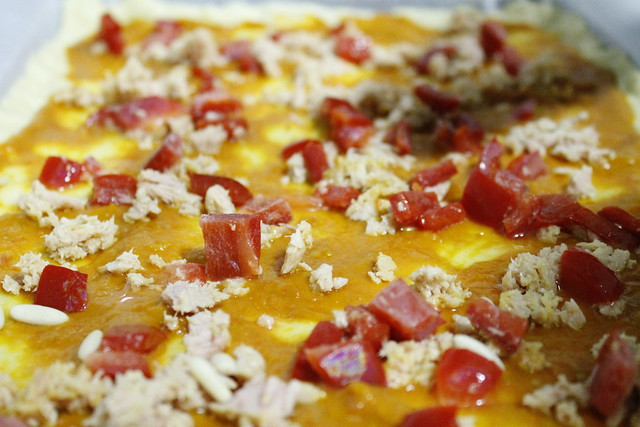 lista para horno coca de tomate