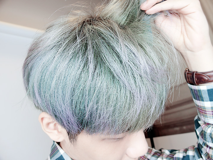 ash blue and turquoise hair colour