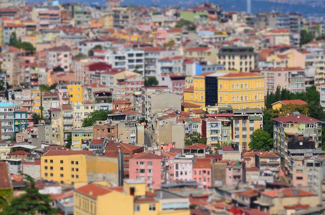 Casitas de Estambul desde la torre Galata