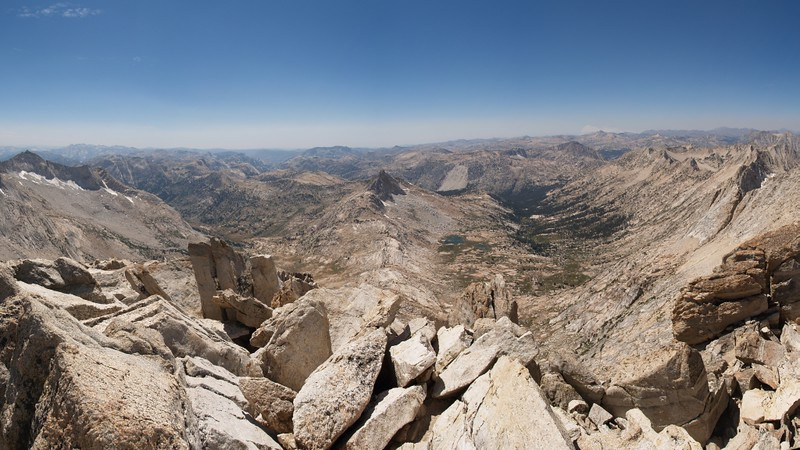View west from the summit of Matterhorn Peak