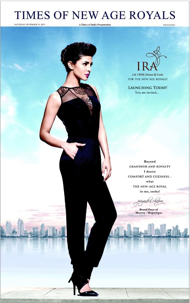 Ira 2 BHK 3 BHK Flats Sr No 25, Katraj Saswad Road Undri Pune 411028 Launch Ad 1 (30-11-2013)