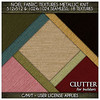 Clutter for Builders - Noel Fabric Textures Metallic Knit