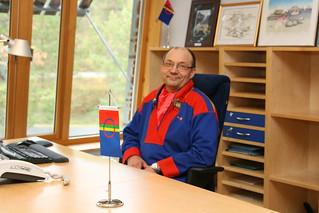 Egil Olli, sametingspresident fra 2007-2013. Egil Olli, the president at the Sami Parliament in Norway from 2007 to 2013.