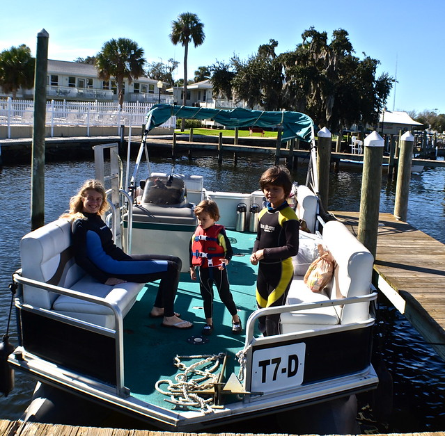 swim with manatee tour - our boat