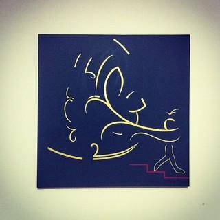 P.N.Side - acrylic on canvas 60cm x 60cm