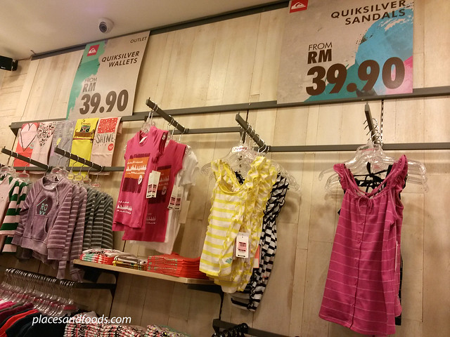 cheras leisure mall quiksilver outlet kids section