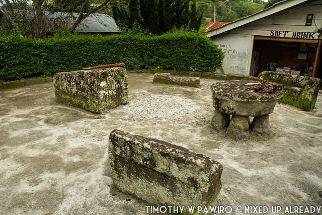 Indonesia - North Sumatra - Medan - Stone Chair of King Siallagan - Batak Traditional Village - Punishment area