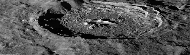 Oblique view of Hayn crater (LROC NAC)