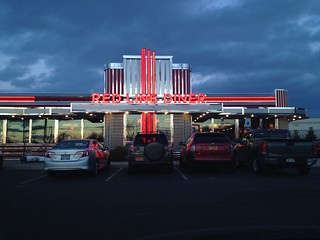Red Line Diner under cloudy skies.
