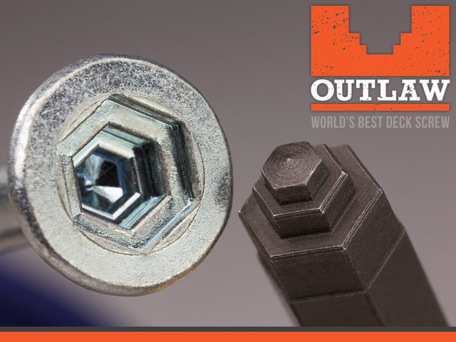 Outlaw Fasteners believes its has revolutionised the commonly used hardware screw