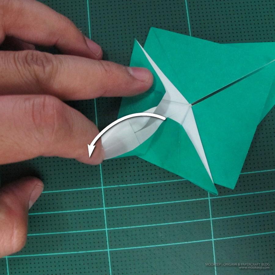 วิธีพับกระดาษเป็นรูปหมู (Origami Pig) 013