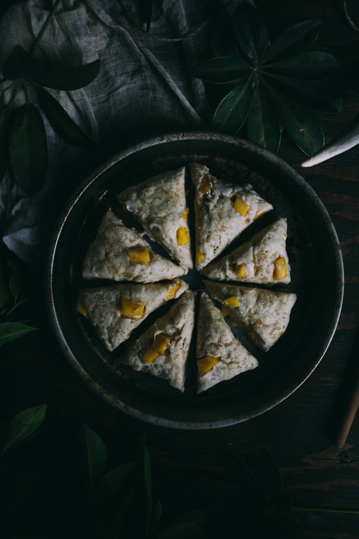 Mango Coconut Scones {Vegan} | Adventures in Cooking