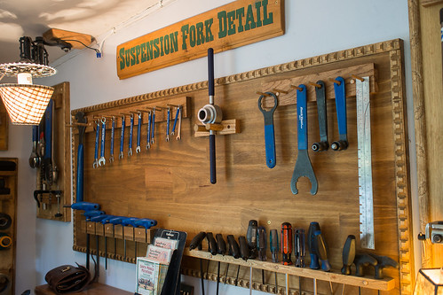 Topanga Creek Bicycles Tool Wall