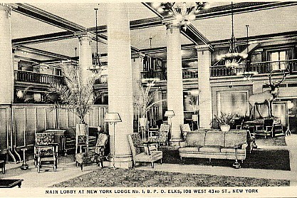 Elks Lodge No. 1/ Hotel Diplomat, NYC, NY (Main Lobby)