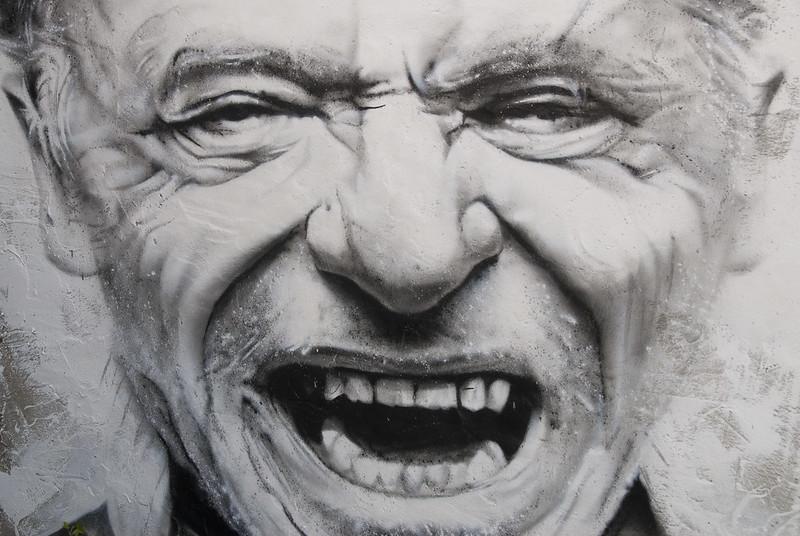 Charles Bukowski, painted portrait _DDC0052