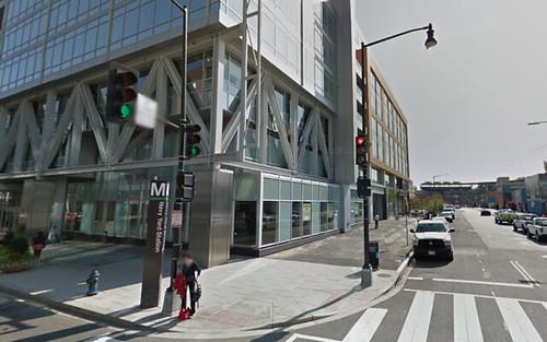 The Navy Yard Metrorail Station at 1200 Half Street SE, Washington DC