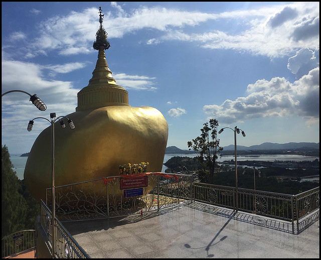 Copy of Kyaiktiyo Pagoda / Golden Rock at Koh Sirey Temple in Phuket