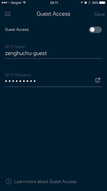 Velop App - Guest Wi-Fi