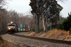 NS9428 leads train 228 eastbound, Marshall, VA