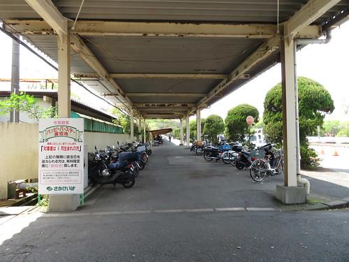 佐賀競馬場の駐輪場