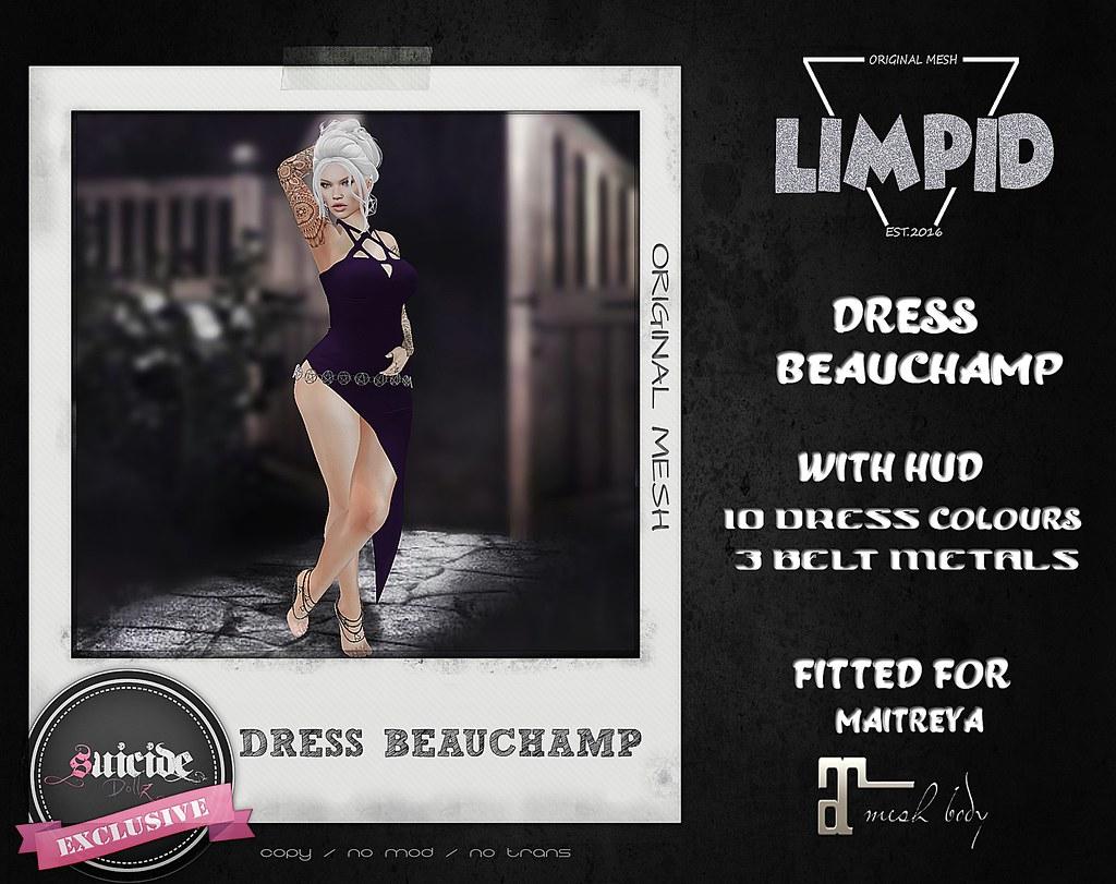 Limpid Dress Beauchamp [Exclusive Suicide Dollz Event] - SecondLifeHub.com