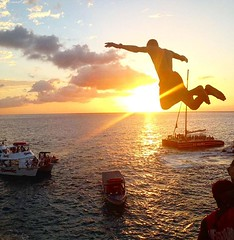 If you want to experience cliff diving in Jamaica the best place to go is Ricks Cafe in Negril. ................................................................. Transportation will be provided upon your request at #ShortyToursJamaica ....................
