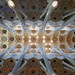 Bright ceiling over the nave of Sagrada Familia by Monceau