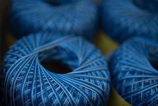 Blue yarn - Filato azzurro