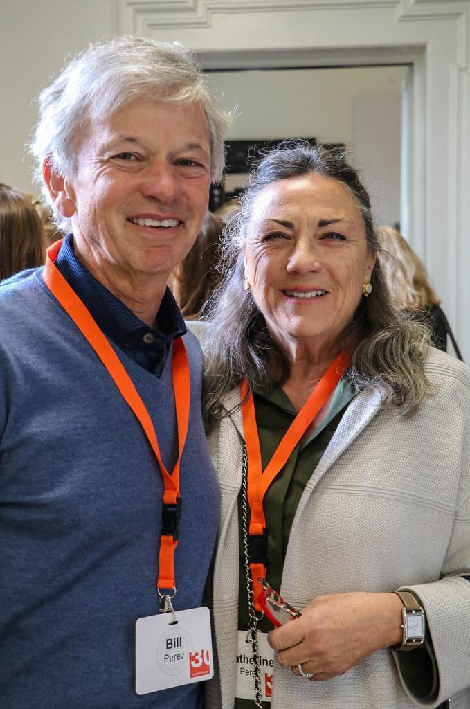 Bill ('69) and Catherine Perez at Palazzo Santacroce.  photo / Bob Joy (B.Arch. '72)