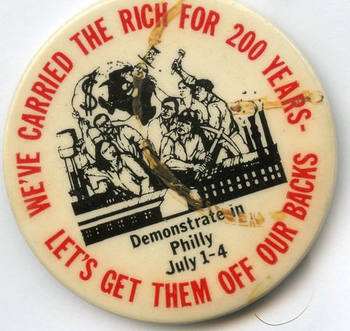 We've Carried the Rich button: 1976