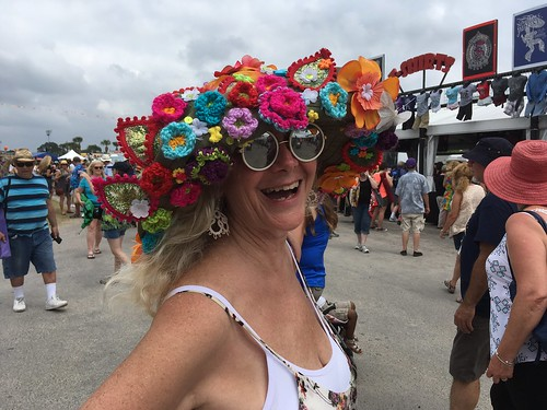 Fest hats are the best! Jazz Fest Day 1 - April 28, 2017