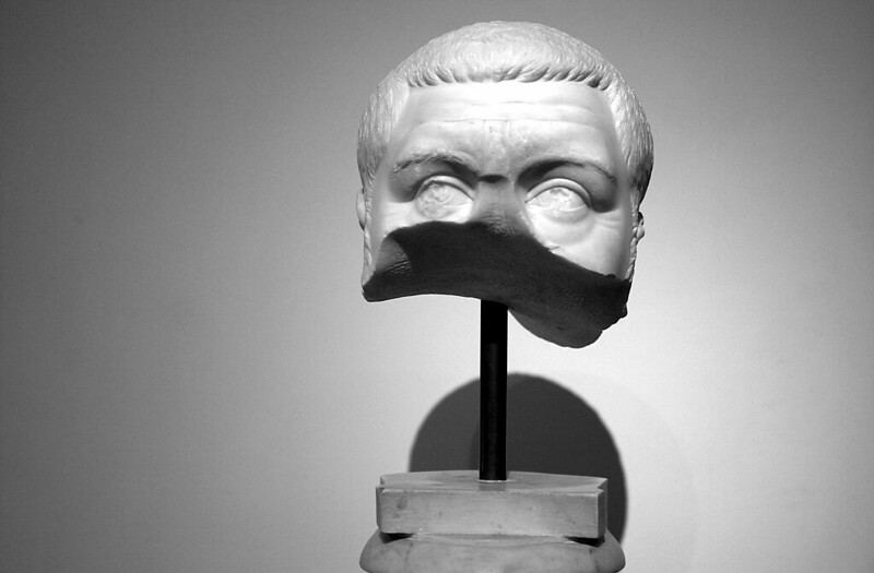 Fragmentary head of Roman Emperor Maximinus Thrax, from the Antiquarium of the Palatine, Rome