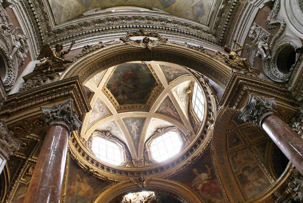Vue à l'intérieur du dôme de l'église San Lorenzo à Turin.