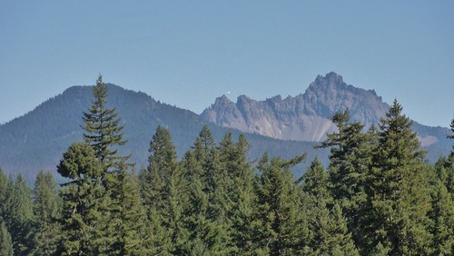 Three Fingered Jack, an old Oregon volcano that is being carved to a nub. It was a mighty stratovolcano, once, like St. Helens.