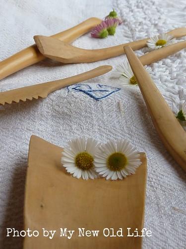 Utensili in bosso creati dal nonno