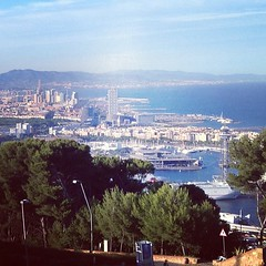View from a Castle #barcelona #spain #travel #europe #cityview #city #scenery #birdseyeview #iphone