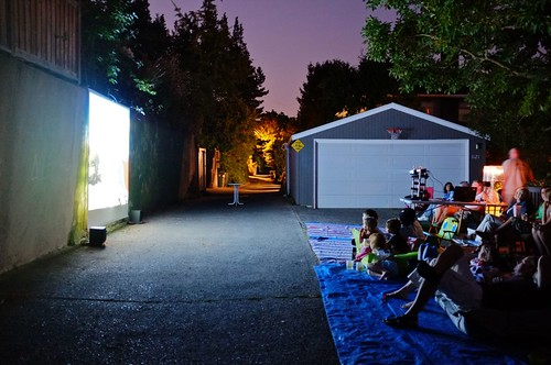 alley movie night, seattle ((c) Charles R. Wolfe)