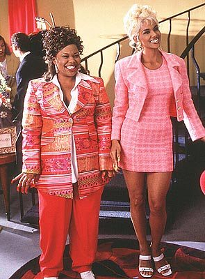 Natalie Desselle and Halle Berry show off their duds in a scene from B.A.P.S.